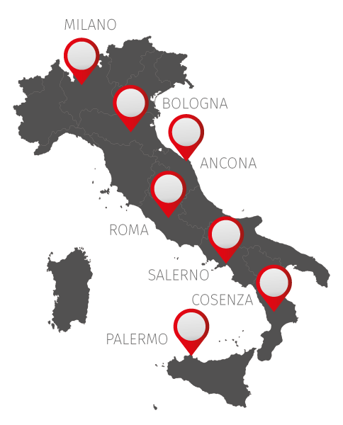 firotek in italia - mappa sedi